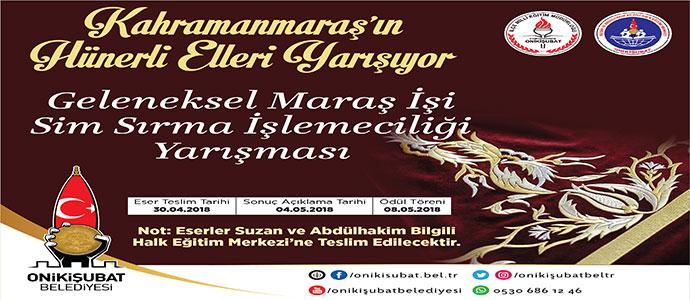 Kahramanmaraş Onikişubat Belediyesi Geleneksel Maraş İşi