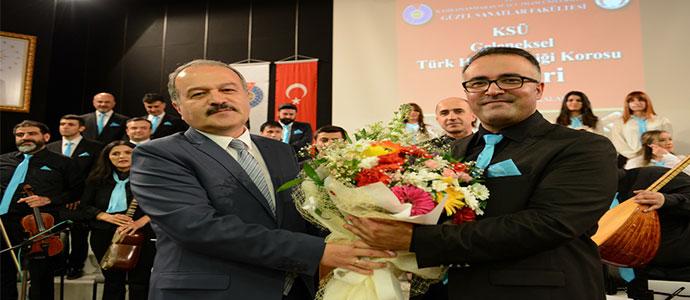 KSÜ Geleneksel Türk Halk Müziği Korosu İlk Konserini Verdi