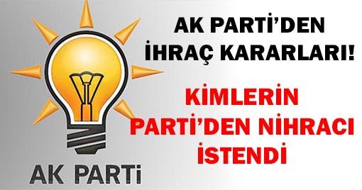 Davutoğlu'na AK Parti'den İhraç Talebi
