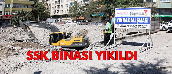 ESKİ SSK BİNASI YIKIMI BİTTİ