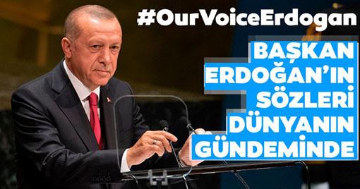 Erdoğan'ın Sözleri Dünyanın Gündeminde!