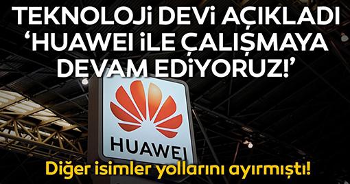 Teknoloji Devi Huawei İle Çalışmaya Devam Edecek!