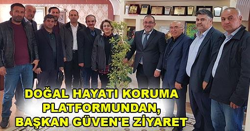 BAŞKAN GÜVEN'E TEŞEKKÜR ZİYARETİ