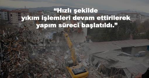 """Murat Kurum: """"201 Binanın Yıkım İşlemleri Tamamlandı"""""""