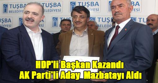 HDP'li Başkan Kazandı  AK Parti'li Aday  Mazbatayı Aldı!