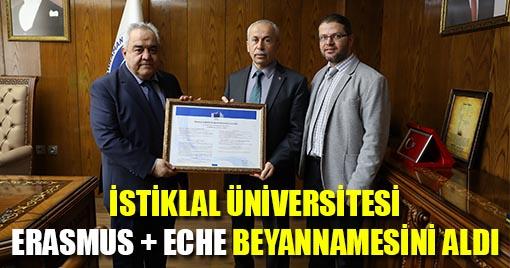 Kahramanmaraş İstiklal Üniversitesi Erasmus + Eche Beyannamesini Aldı