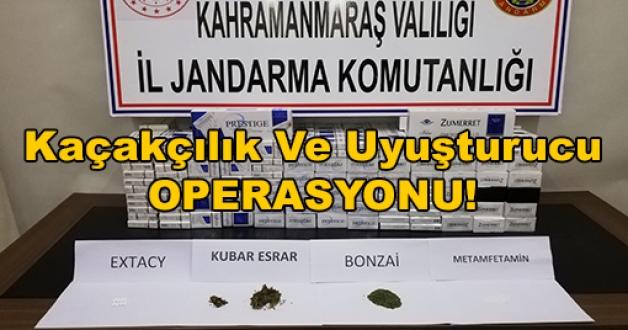 Kahramanmaraş'ta Kaçakçılık Ve Uyuşturucu Operasyonu!