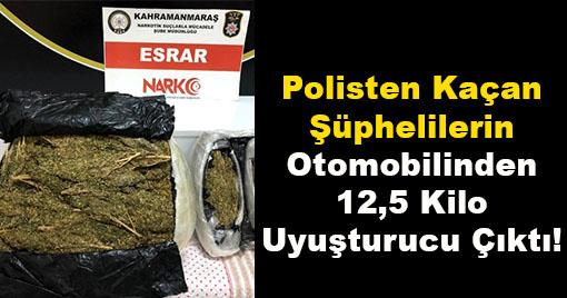 Polisten Kaçan Şüpheliler Kaza Yaptı! 12,5 Kilo Uyuşturucu Çıktı!