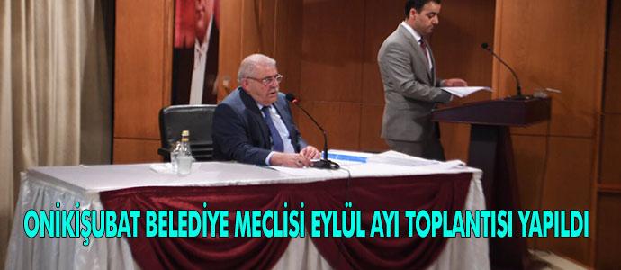 ONİKİŞUBAT BELEDİYE MECLİSİ EYLÜL AYI TOPLANTISI YAPILDI