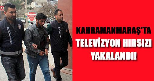 KAHRAMANMARAŞ'TA TELEVİZYON HIRSIZI YAKALANDI!