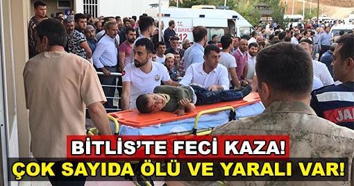 Bitlis'te Feci Kaza: 10 Ölü 7 Yaralı!