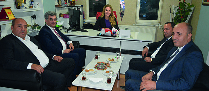 MHP'li Aycan,ABYB'yi Ziyaret etti
