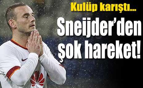 Sneijder'den kulübe ihtar!