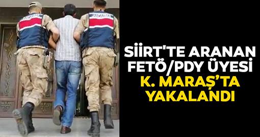 Siirt'te Aranan Fetö/Pdy Üyesi Kahramanmaraş'ta Yakalandı